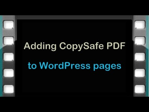 How To Add Copy Protected PDF To WordPress Pages