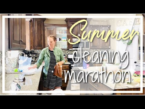 SUMMER CLEANING MARATHON // NEW WHOLE HOUSE CLEAN WITH ME 2019 // JAMIE M CURTIN
