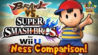 SMC: Brawl vs. Smash Bros. Wii U - Ness Moveset & Model Comparison!