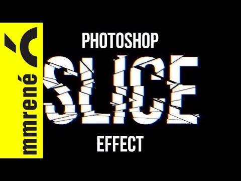 Photoshop how to slice/break text non destructively - YouTube