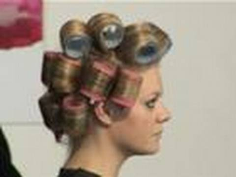 Putting hair in rollers