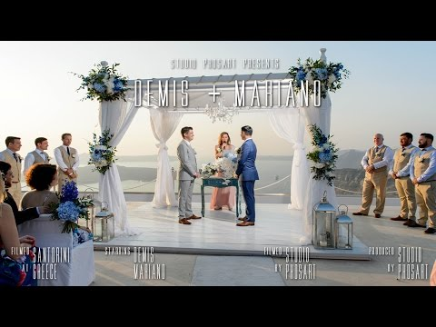 Santorini Destination Wedding | Same Sex Couple