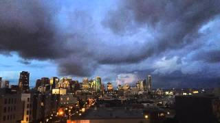 Timelapse of storm clouds moving in on San Francisco