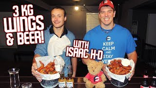 3kg Blazing Chicken Wings Challenge w/ ISAAC H-D!!