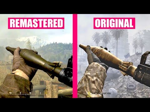 Call of Duty 4 Modern Warfare Remastered Gun Sounds vs Call of Duty 4 Modern Warfare