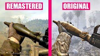 Call of Duty 4 Modern Warfare Remastered Gun Sounds vs Call of Duty 4 Modern Warfare