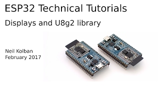ESP32 Technical Tutorials: Displays and the U8g2 library by Kolban  Technical Tutorials
