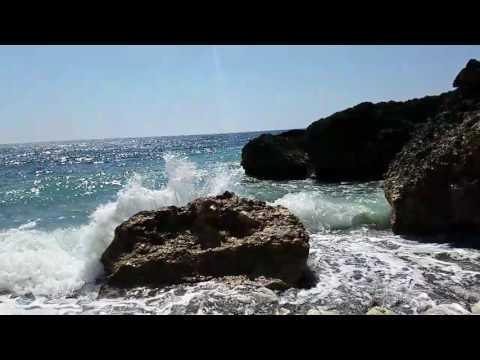Slow motion wave crash at Guantanamo Bay, Cuba