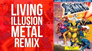 X-Men Original Theme - Hard Rock Remix Music Video - Living Illusion
