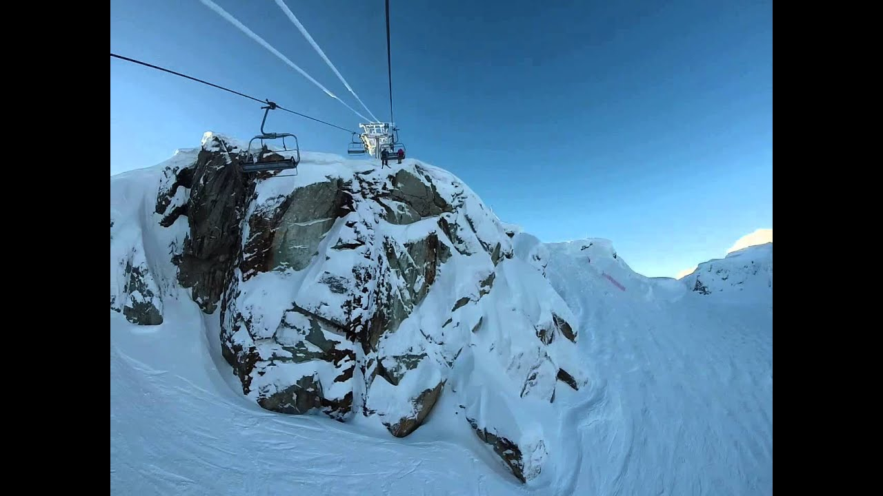 Ski Chair Lift Bertoia Diamond Cover Whistler, Peak Express Christmas Day 2014 - Youtube