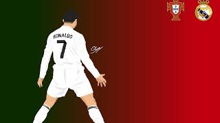 Thinkalot : Vector Portrait Chistiano Ronaldo in Adobe illustrator !