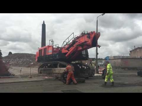 Demolishing Ogdens Chimney Liverpool 2016 Pt 1