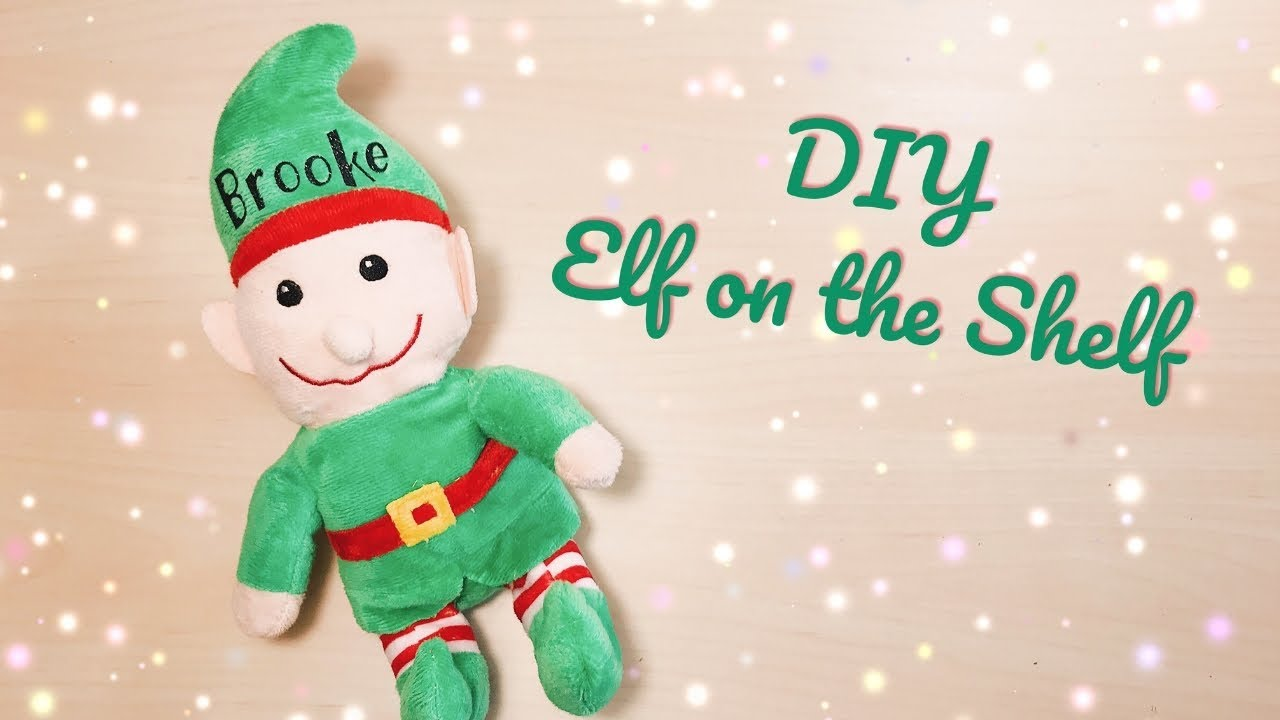 dollar tree elf how to personalize w htv elf on the shelf alternative diy cricut christmas