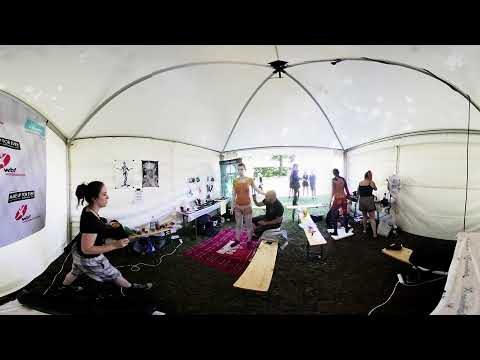 World Bodypainting Festival 2017 - BlackCat BodyArts Interview - 360 3D VR