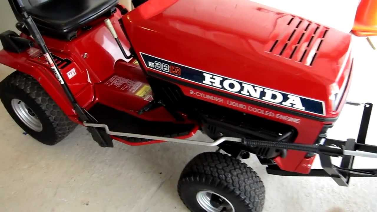 Honda Ht3813 Tractor With Snow Plow Youtube