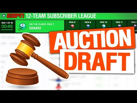 Fantasy Football Auction Draft 2019 (Subscriber League)