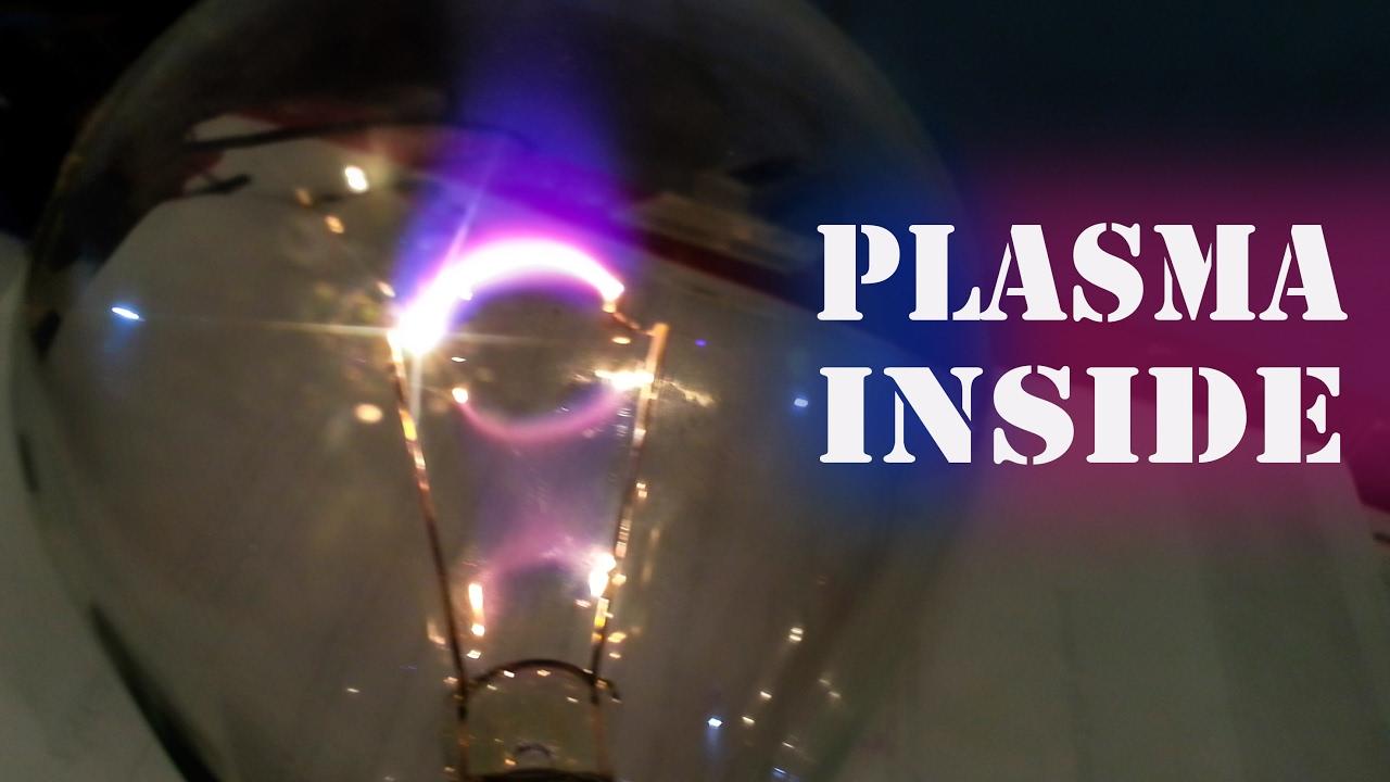 DIY Plasma Lamp - Burned Out Light Bulb + High Voltage ...