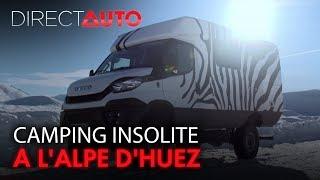 Pick-Up, 4x4, engin XXL : Camping insolite à l'Alpe d'Huez