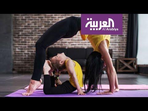صباح العربية   جمباز في استوديو صباح العربية