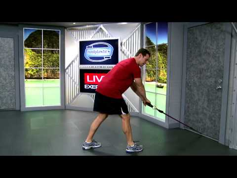 Standing Back Extension with Resistance Bands