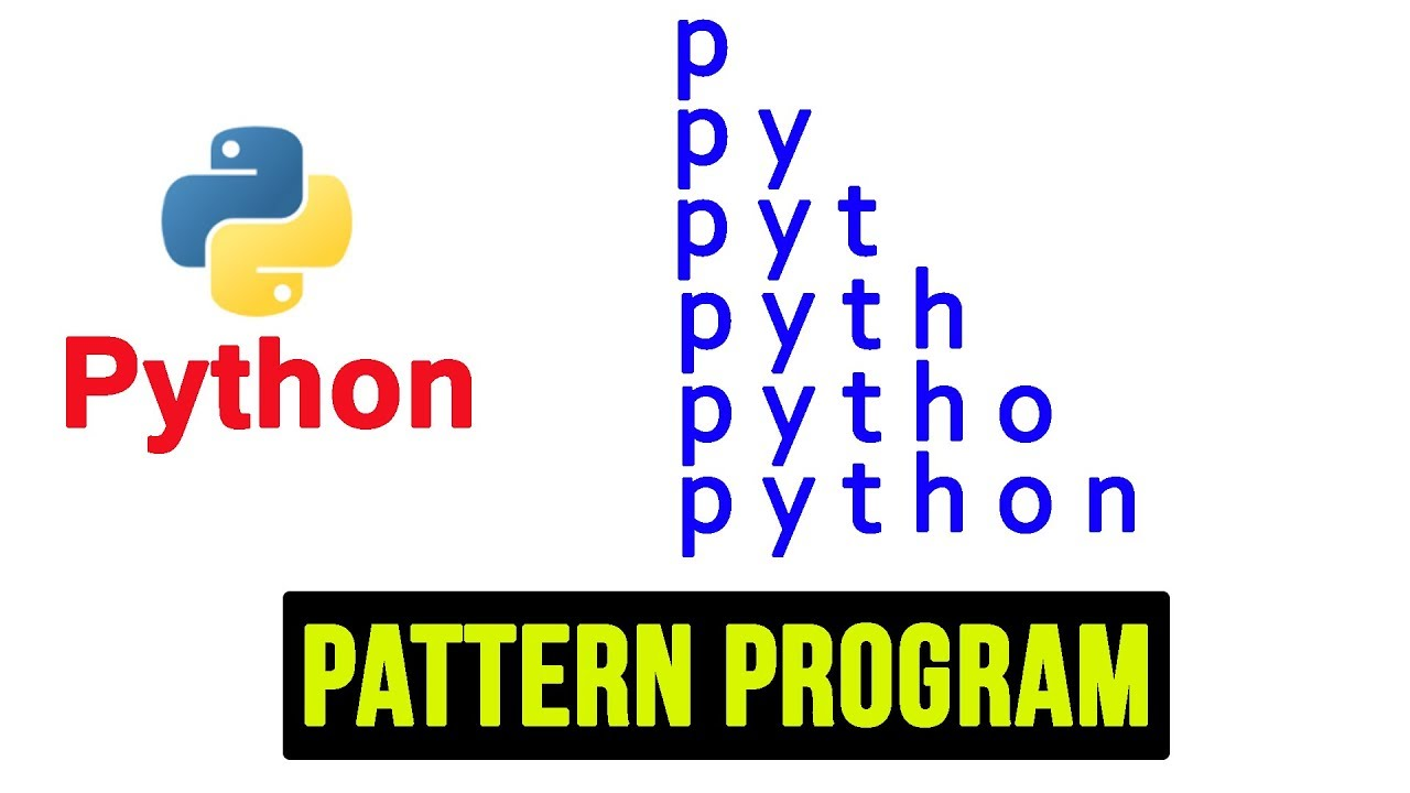 Python Pattern Programs - Printing Strings in Right Triangle Shape