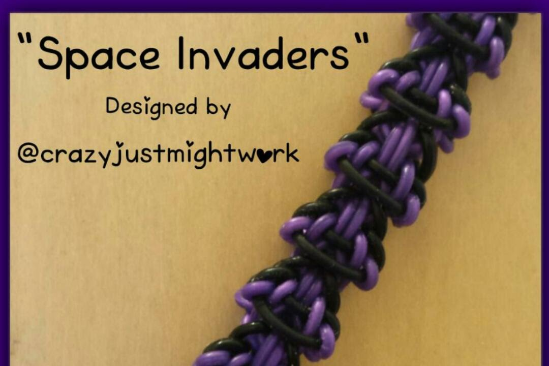 """New """"Space Invaders"""" Monster Tail Bracelet/How To Tutorial ..."""