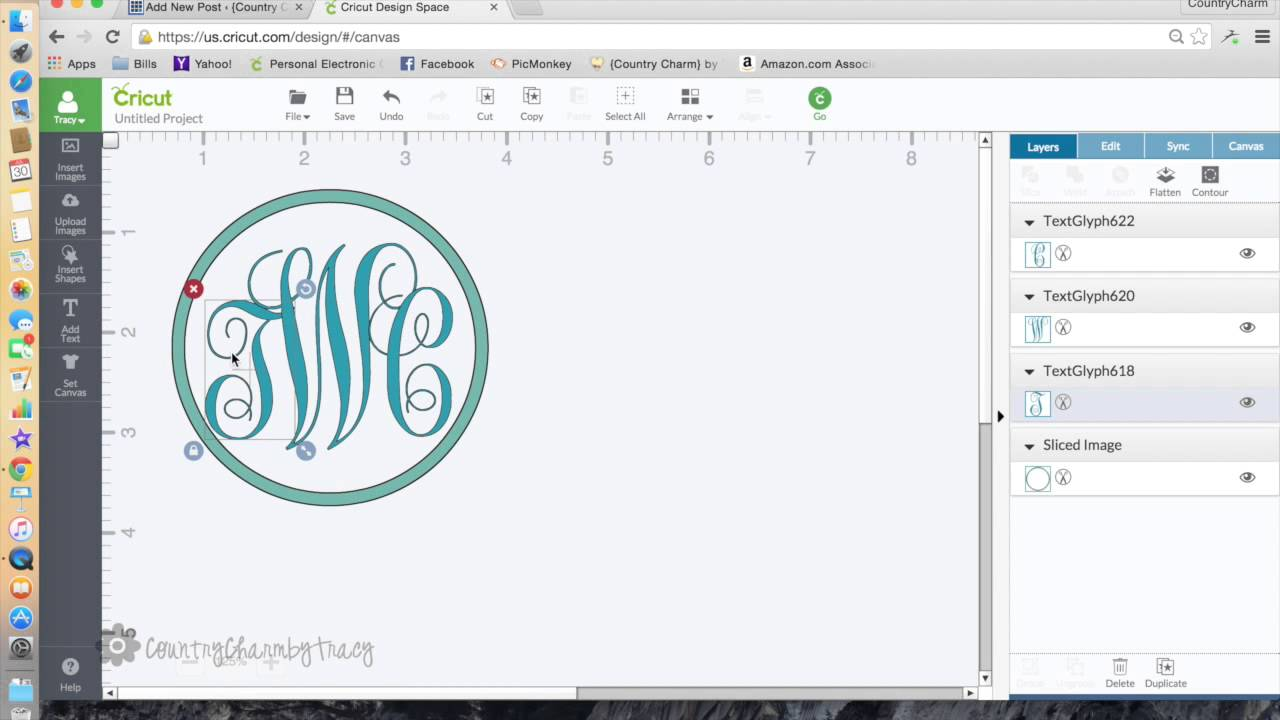 How To Make A Monogram With Cricut Explore Youtube