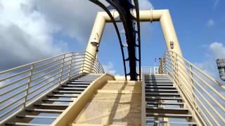 Montu roller coaster front row POV at Busch Gardens Tampa