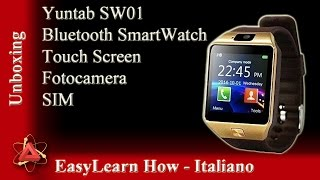 review e unboxing smart watch dz09 italiano
