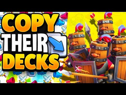 I COPY My Opponent's Deck After EVERY GAME In Clash Royale!