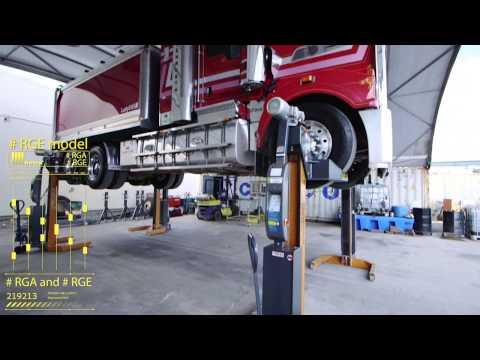Truck & Bus lifting, Mobile Wireless hoist  - Airdraulics