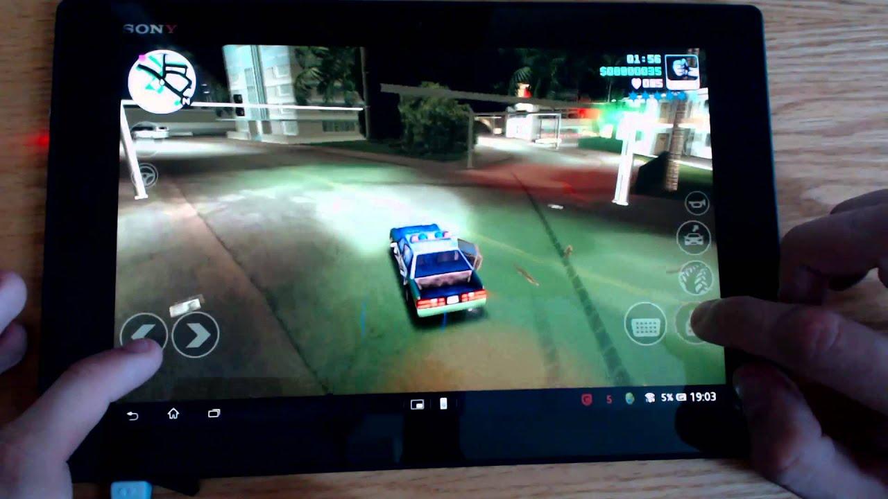Célèbre Xperia Tablet Z Grand Theft Auto Vice City Gameplay - YouTube PB21
