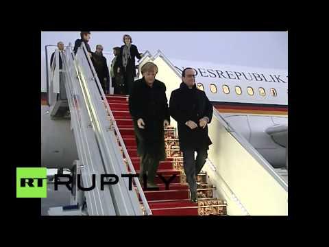 Belarus: Merkel arrives in Minsk for Ukraine conflict talks