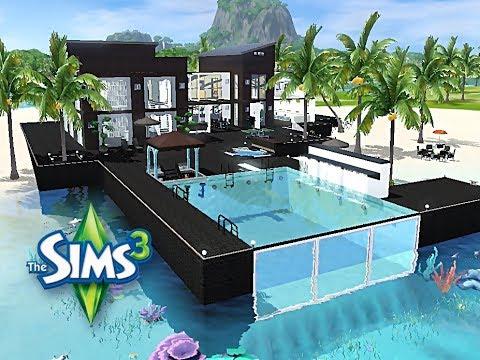 sims 3 haus bauen let 39 s build viel platz am meer youtube. Black Bedroom Furniture Sets. Home Design Ideas