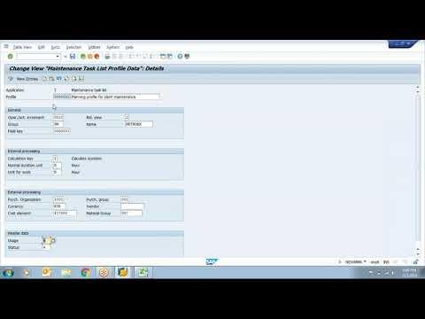 SAP PM - Task List Configuration, Concepts And Creation