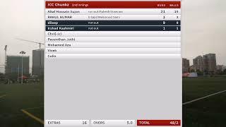 Live Cricket Match | SHENZHEN WARRIORS CRICKET CLUB vs ICC Chunkz  | 15-Dec-19 02:22 pm 5 overs | So