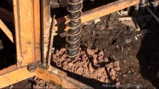 Бурение скважин под поверхностный насос(Наглядное видео по установке скважин под поверхностный насос. http://akvaresursnn.ru., 2015-03-24T14:00:09.000Z)