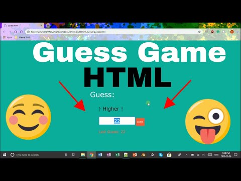 How To Make A GUESSING GAME In Html