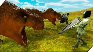 ДИНОЗАВРЫ против РЫЦАРЕЙ - Игра Beast Battle Simulator. Битва динозавров