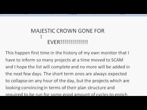 MAJESTICROWN GONE FOR EVER!!!!!