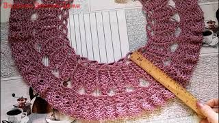 Блуза из шелка крючком Часть 2 2   кокетка ряды 14 по 18