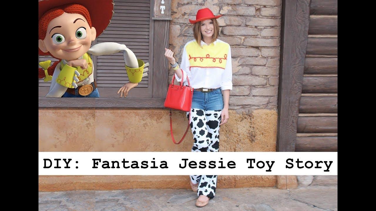 DIY- JESSIE (TOY STORY) HALLOWEEN DISNEY - YouTube 2d151c052f5