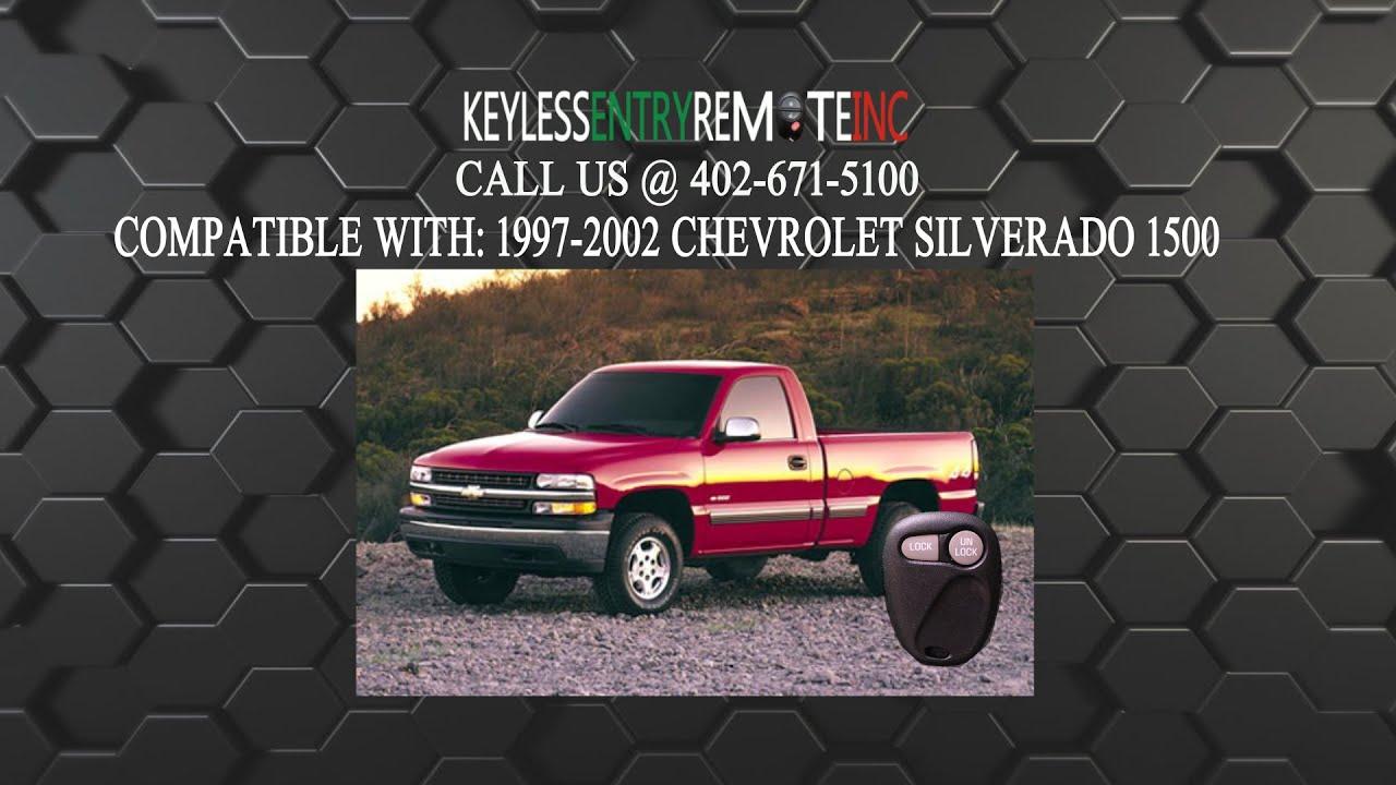 2 Replacement For 2001 2002 Chevrolet Silverado Key Fob Remote