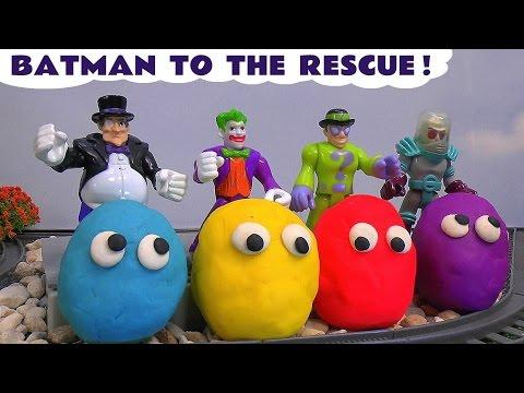 Play Doh Thomas and Friends Batman Imaginext Joker Penguin Villain Disney Cars Toy Surprise Eggs