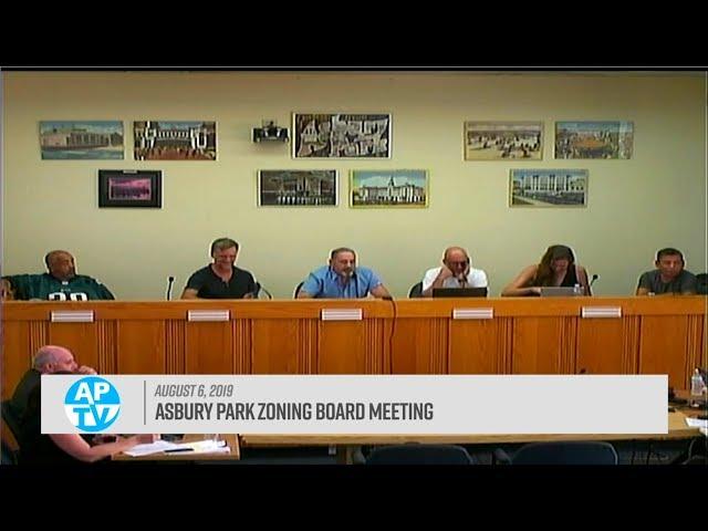 Asbury Park Zoning Board Meeting - August 6, 2019