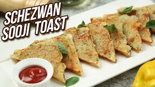 Instant Rava Toast - Schezwan Sooji Toast Recipe - Stop Motion Cooking - Sonali - Rajshri Food
