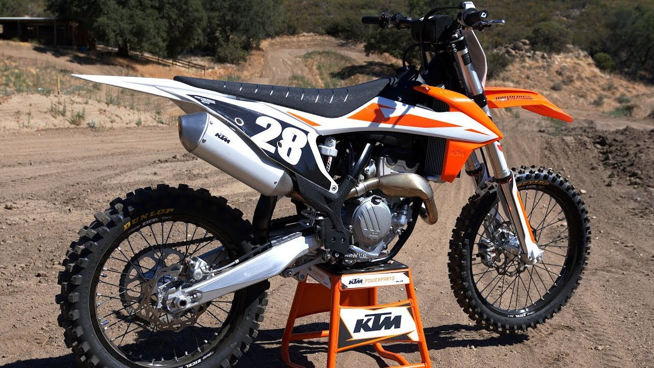 first ride 2019 ktm 250sxf motocross action magazine. Black Bedroom Furniture Sets. Home Design Ideas