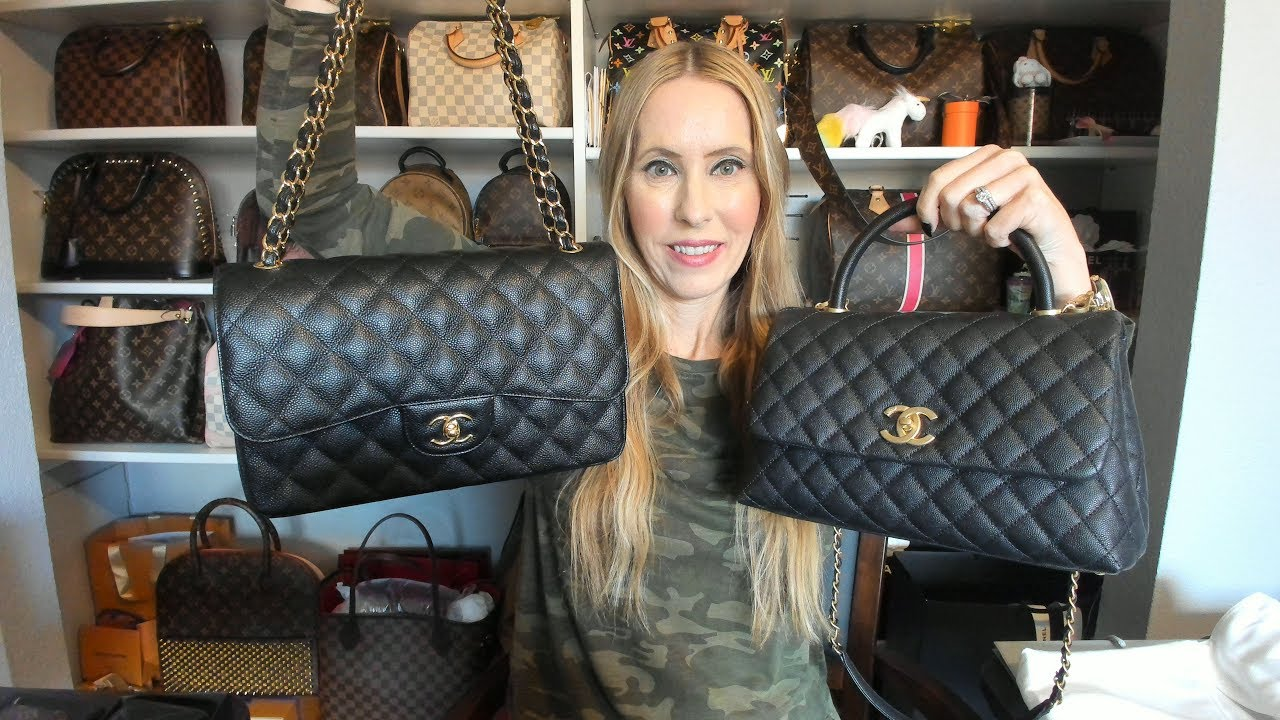 Chanel Jumbo And Chanel Coco Handle Small Comparison Youtube