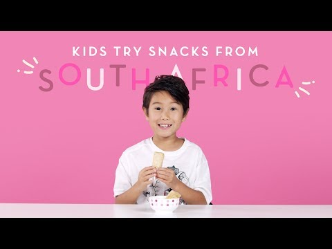 Kids Try Snacks From South Africa