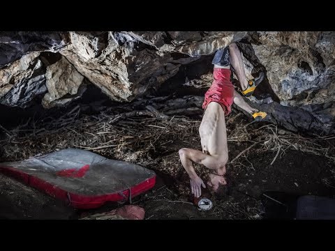 Adam Ondra climbs Brutal Rider Font 8C+